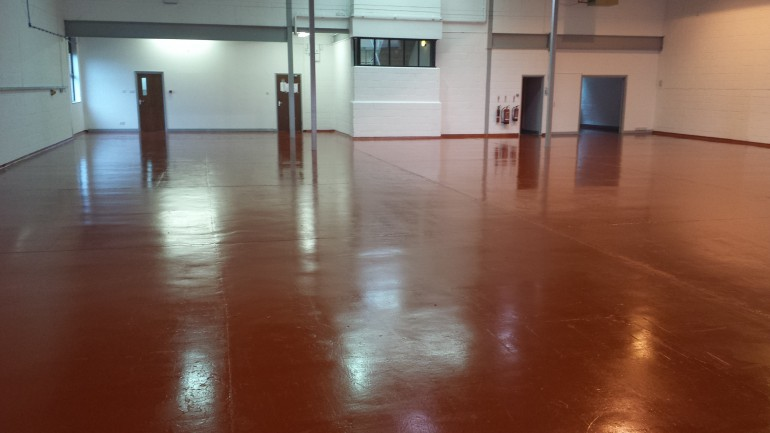 Finished Floor with Anti Slip Coatings